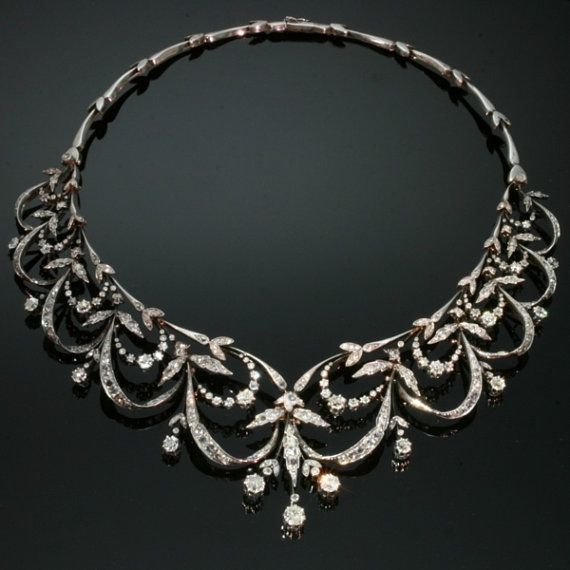 Victorian Antique Diamond Necklace Parure by adinantiquejewellery, $35100.00 *love, love, love it*
