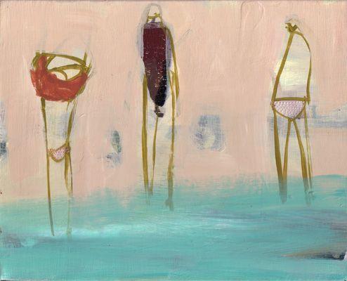 becky blair * artist - paintings: bathers waterside