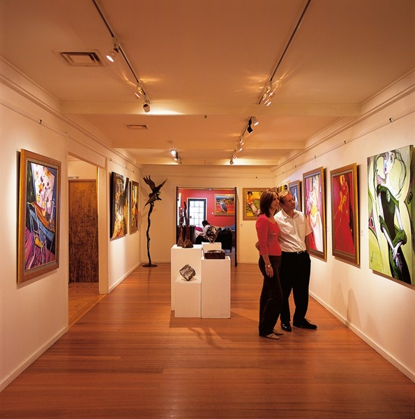 Manyung Gallery Interior. Amazing artwork and a lovely cafe. Mt Eliza, Vic.