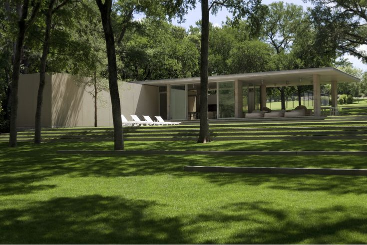 Beck Residence | Philip Johnson | Dallas, Texas | 1964 | Renovation by Bodron+Fruit Architects with landscape design by Reed Hilderbrand, 2009
