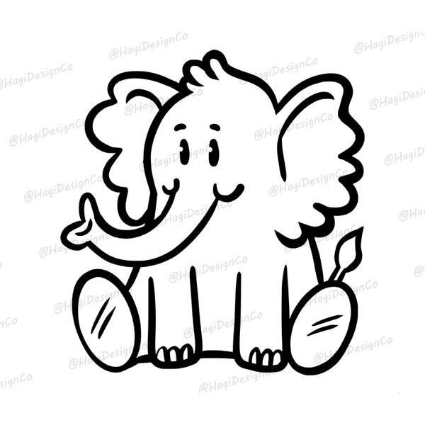 Baby Elephant Outlines Cartoon Animal Cliparts Elephant Png Etsy Elephant Outline Cartoon Clip Art Animal Outline