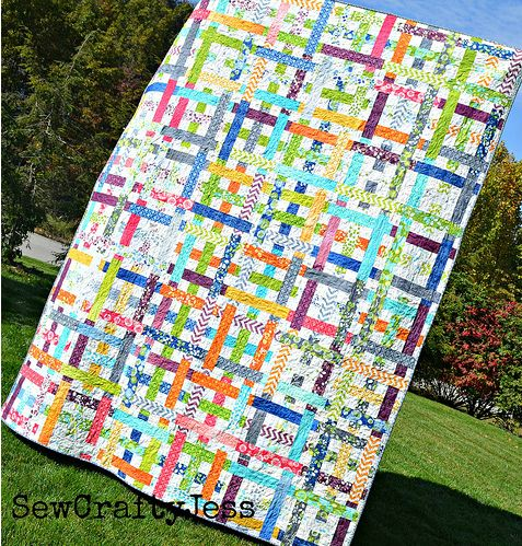 The Simply Woven Quilt by Jessica Kelly for Moda Bake Shop http://www.modabakeshop.com/2012/10/simply-woven-quilt.html