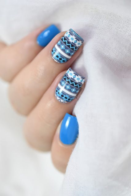 Marine Loves Polish: Nailstorming - Le Froid - Winter sweater nail art - what's up nails water decals [VIDEO TUTORIAL]