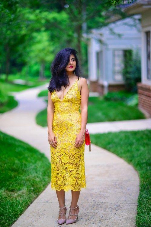 Yellow Lace Dress http://zunera-serena.com/yellow-lace-dress/