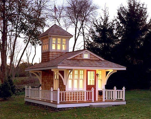 домик с башней