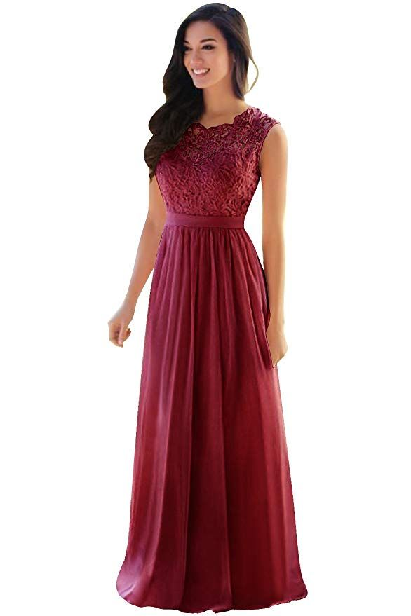 eda6a628a9 MisShow Lace Chiffon Prom Bridesmaid Dresses Long 2019 Formal Evening Gowns  at Amazon Women s Clothing store