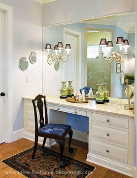 45 best images about bathroom dressing tables on pinterest for Bathroom designs with dressing area