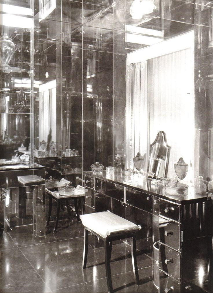 Glamorous Mirrored Dressing Room
