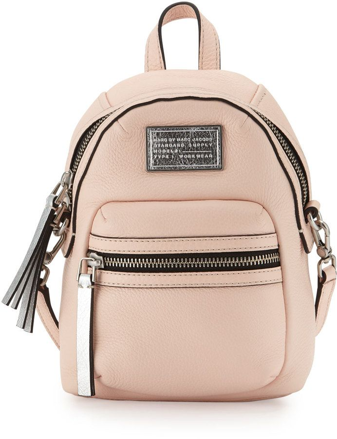 MARC by Marc Jacobs Domo Biker Cross Backpack, Pearl Blush