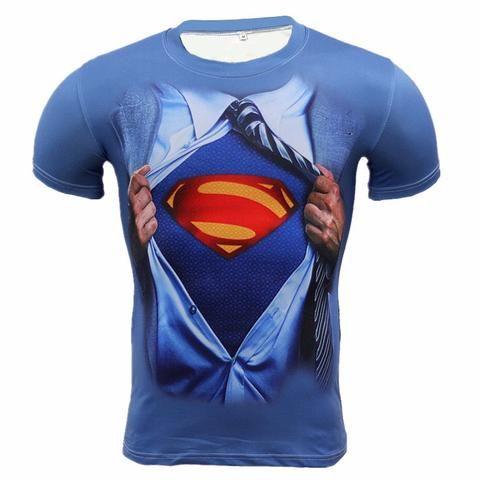 Men's Compression Long & Short Sleeve 3D Shirts - Several Options, Compression