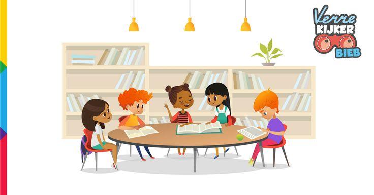 Jeugdboekenmaand 2018 - wedstrijd - win je droombieb - ontwerp samen met je leerlingen jullie droombieb en maak kans op een bon en boekjes om van die droombieb werkelijkheid te maken - Verrekijker - Verrekijkerbieb