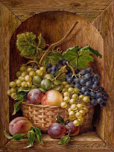 Michael Satarov Bodegón con frutas.