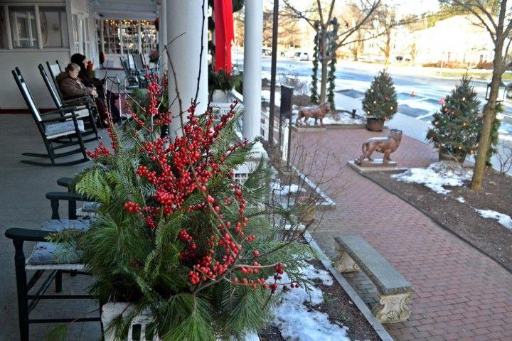 red lion inn porch christmas
