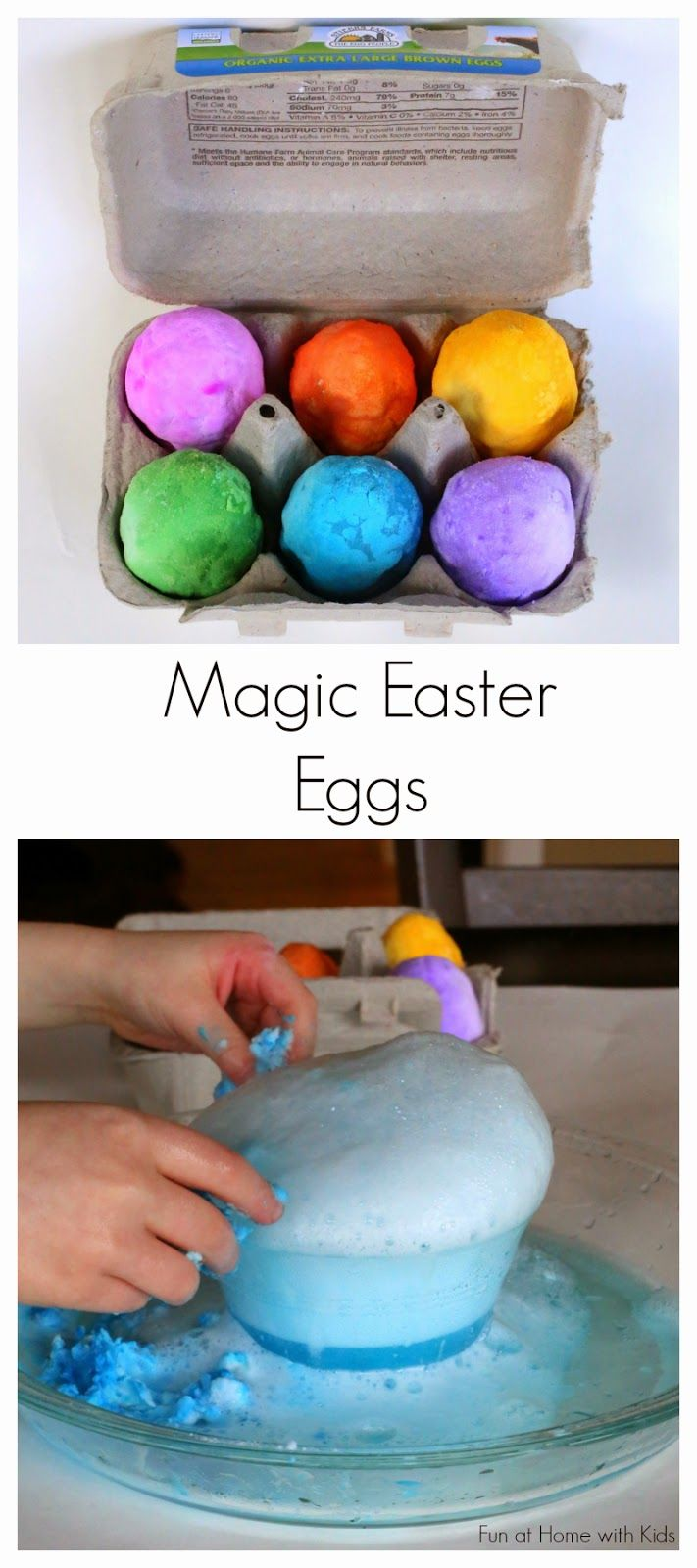 Magic Easter Eggs Two Ways: Hatching and Foaming from Fun at Home with Kids