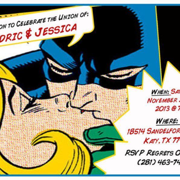 Batman Themed Wedding Invitations   Google Search