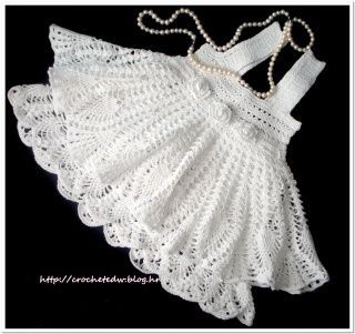 441 Best Images About Crochet Baby Dresses On Pinterest