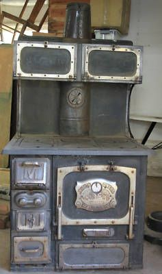 old wood cooking stoves   Great Majestic Antique Wood Cook Stove