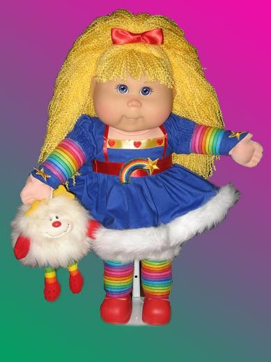 Two of my favs as a child in one. Rainbow bright & cabbage patch!
