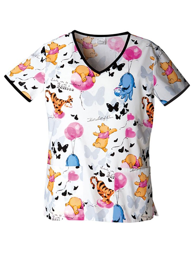 Disney Up In The Air V-Neck Scrub Top