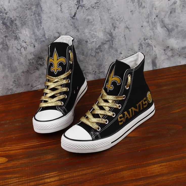 NFL Football Novelty Design Canvas Shoes Printed Custom Logo New Orleans Staints