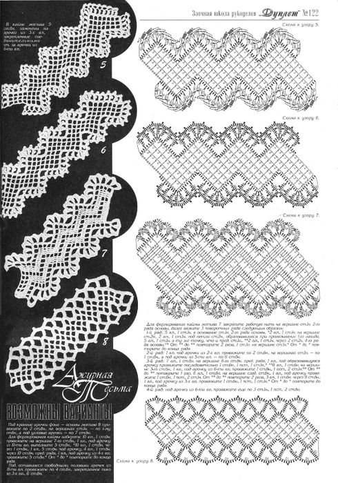 crochet edgings  @Af's collection