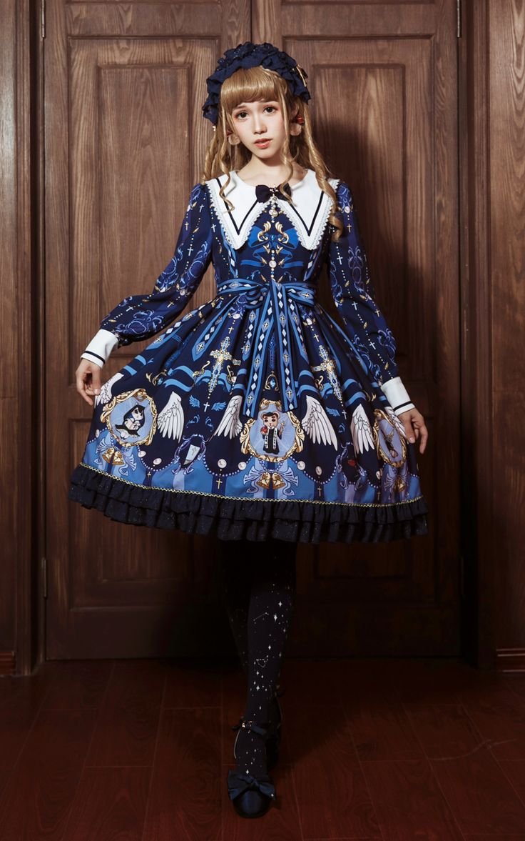 Mousita -Monastery of the Angels- Gothic Lolita Collar OP Dress