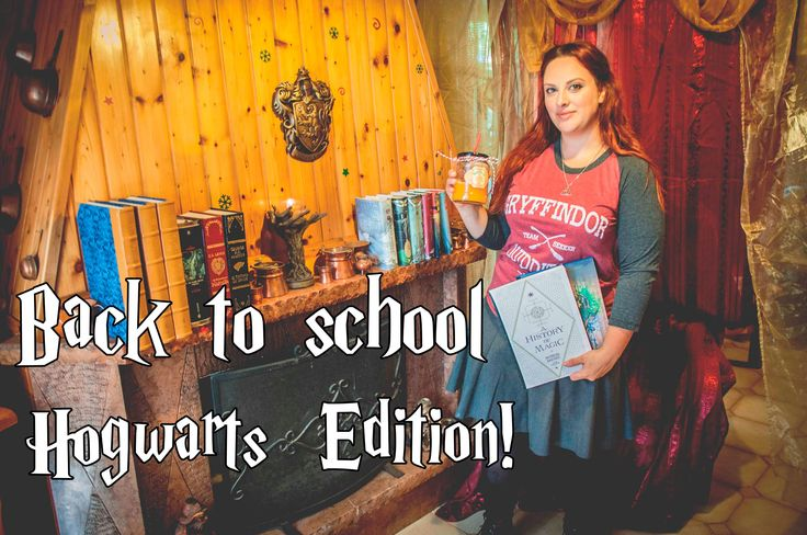 Back to school-Hogwarts Editions! (DIY Notebooks-Pumpkin Juice-HP Outfit)