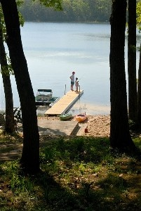 Family fun on Little Wolf Lake in the summer, Fall Colors...3BR/2 BA Lake Home - Lewiston, Michigan Lewiston, Michigan Vacation Rental by Owner Listing 84644