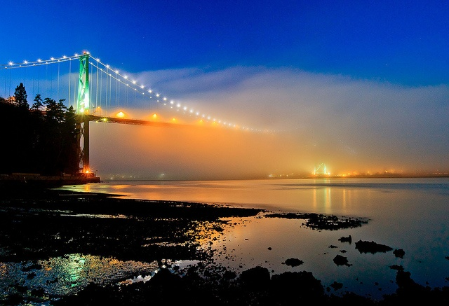 Lions Gate Bridge in Fog - I used to run the seawall beneath it. (10k track)