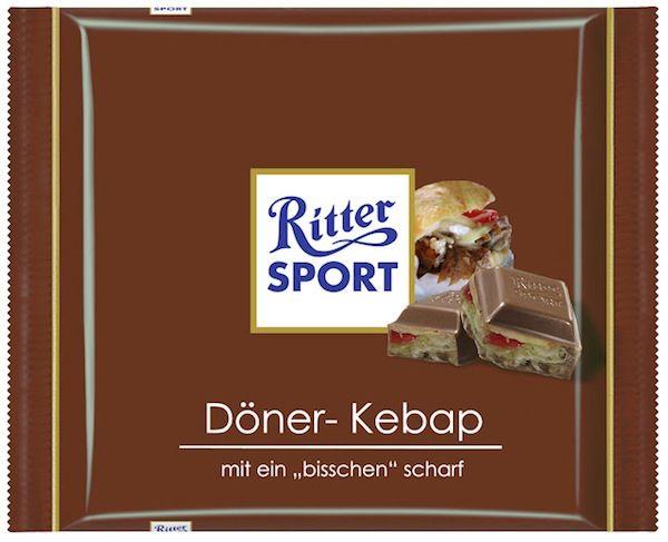 Haha… bereits vor einem Jahr hab' ich die Idee gesehen und gestern wieder gefunden: wie köstlich muss Döner Kebap Ritter Sport Schoki schmecken ;-) For my English- Speaking fellows: Im…