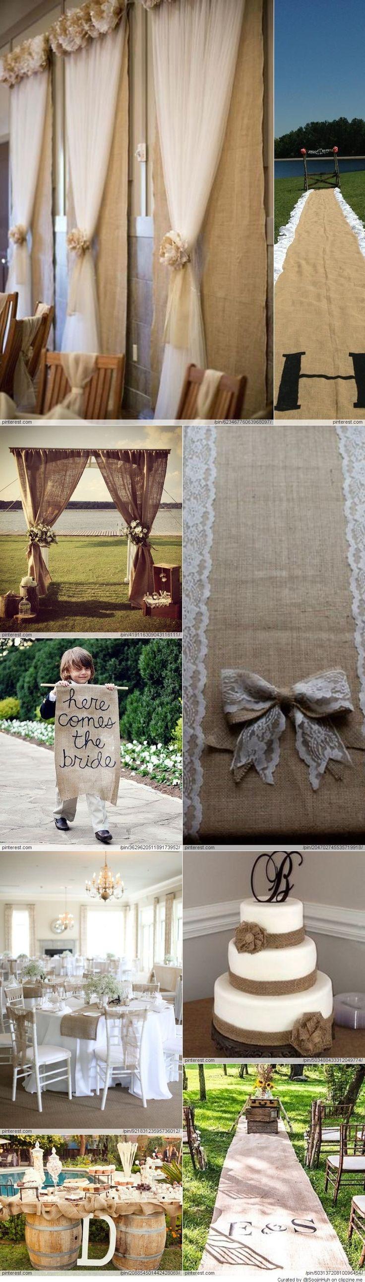 Burlap Wedding Ideas. My kind of country wedding