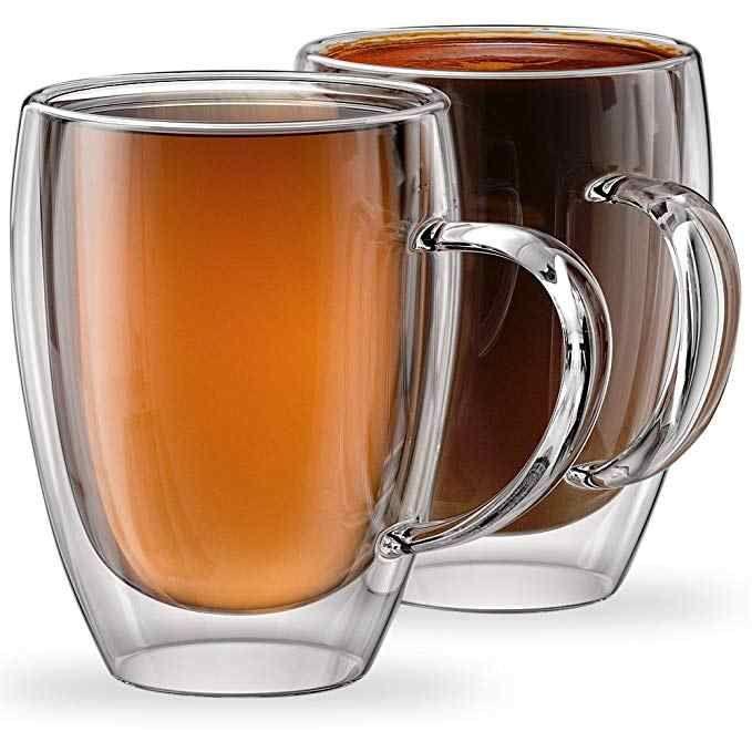 Double Layer Gl Tea Coffee Cup