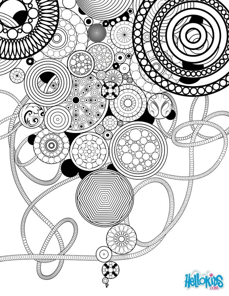 Circles And Rosettes Coloring Page Adult PagesFree