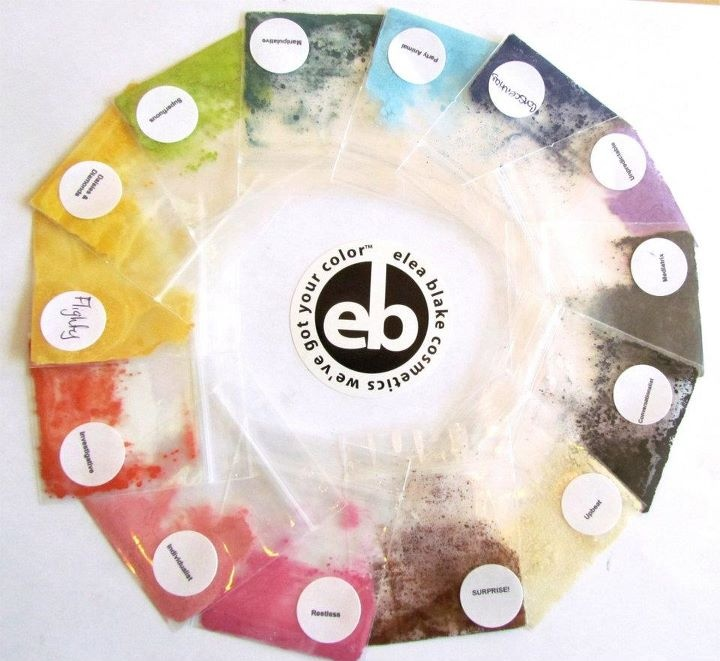 The Bright Spring Eye Shadow Collection from Elea Blake Cosmetics