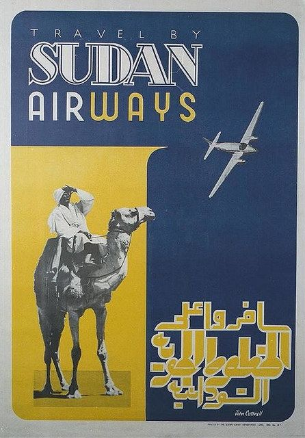 Sudan Airways vintage airline poster