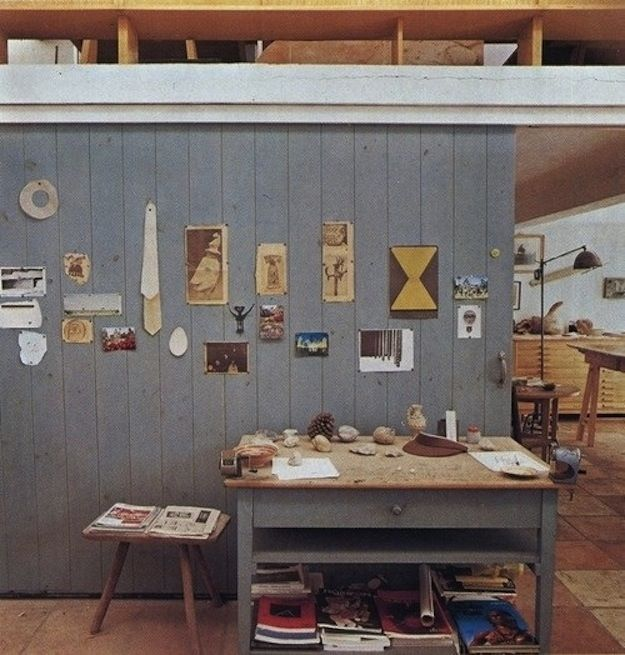 Joan Miró, artist. | 40 Inspiring Workspaces Of The Famously Creative via Buzzfeed.com by Summer Anne Burton.