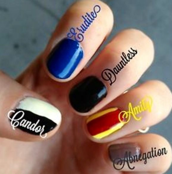 Divergent Faction Nails nailart. I'm going to do this!