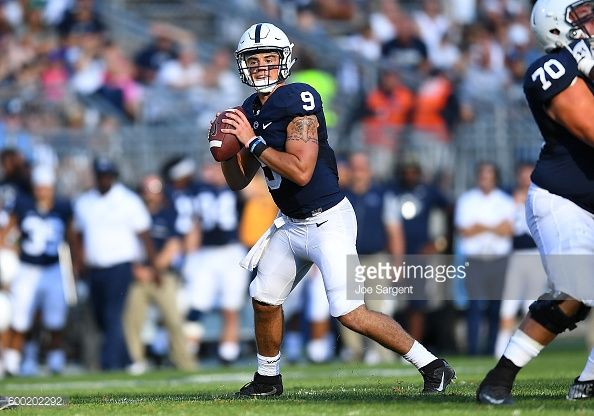 News Photo : Trace McSorley of the Penn State Nittany Lions in...