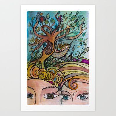Tree of life Art Print by Valerie Parisius - $17.00 www.valerieparisius.com