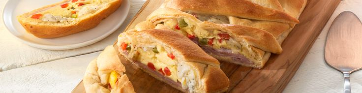 Loaded with ham, Black Pepper White Cheddar cheese, egg and bell pepper, this braided bread can be enjoyed for breakfast, lunch, or dinner!