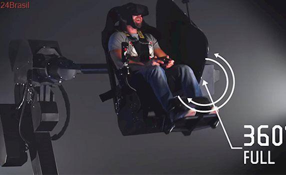 MMOne é o simulador de realidade virtual suspenso que aumenta em muito a experiência de aplicações VR