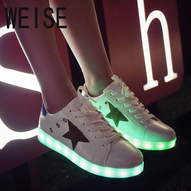 Unisex Adult Thicked Warm LED Luminous Light Up Casual Shoes Couple Trainers HOT
