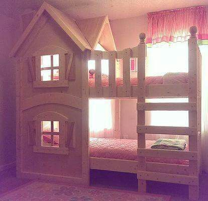 Bed on top, play area below