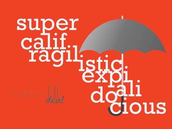 "CUSTOM Movie Quote Print ""Mary Poppins"" 8x10 Printed"