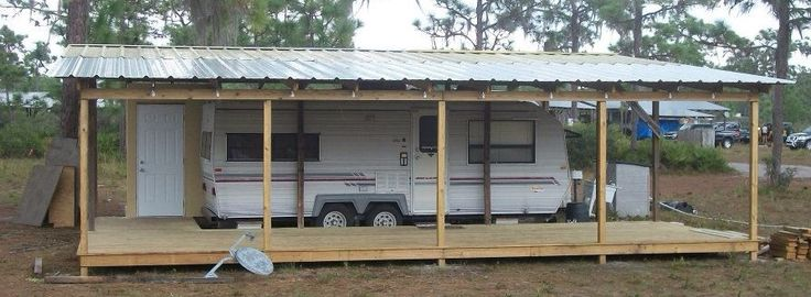Shelter Porch Over Camper Rv Camping Rv Carports Rv