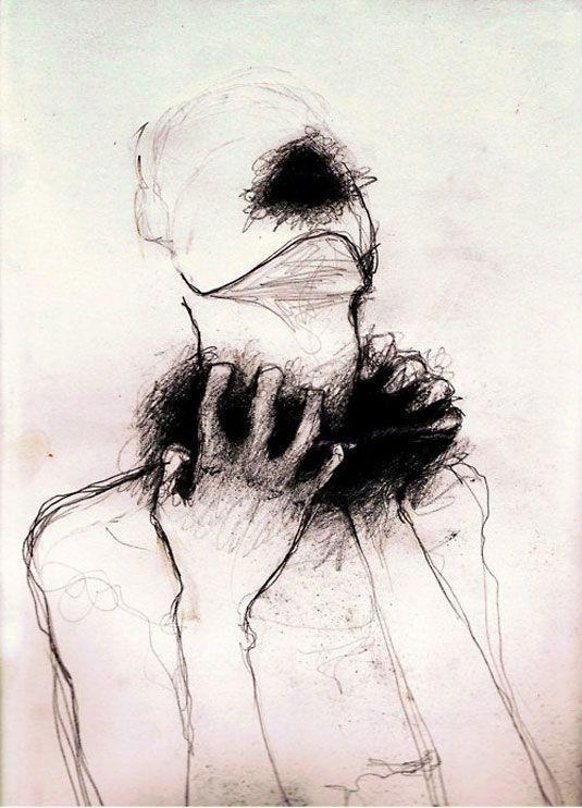 Рисунки карандашом печаль и боль человека