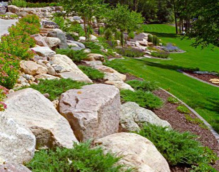find this pin and more on landscaping our boulder retaining wall designs - Landscape Design Retaining Wall Ideas