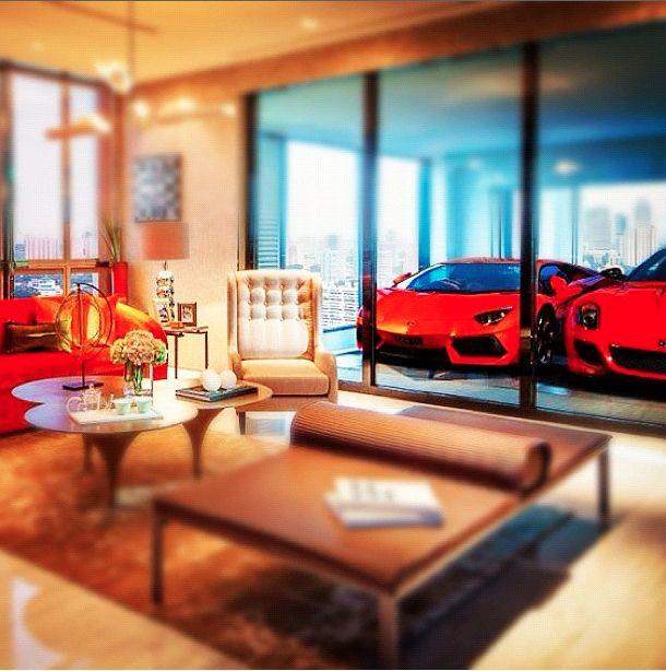 Scret Garge Luxury House: Buy A Dubai Penthouse And Get A Lamborghini Aventador Free