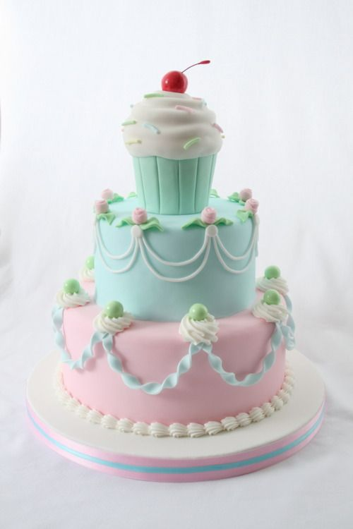 Pastel Color Wedding Cake Happily Ever After Pinterest Cute Cakes Wedd