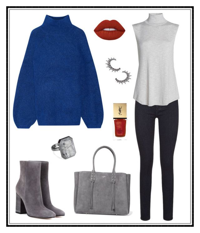 """#157"" by e-elmedal on Polyvore featuring By Malene Birger, Gianvito Rossi, NIC+ZOE, Lanvin, Lime Crime, LYRALOVESTAR, Ringly and Yves Saint Laurent"